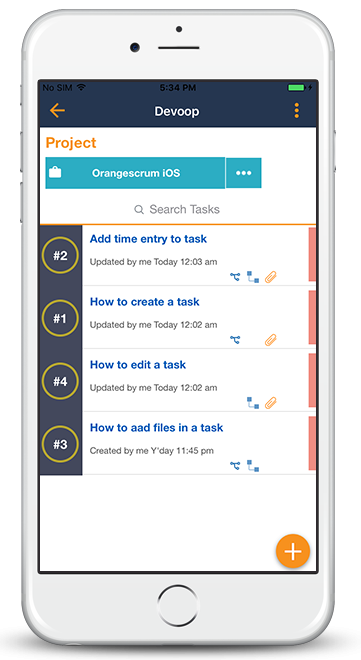 Orangescrum Mobile App Task Dependencies