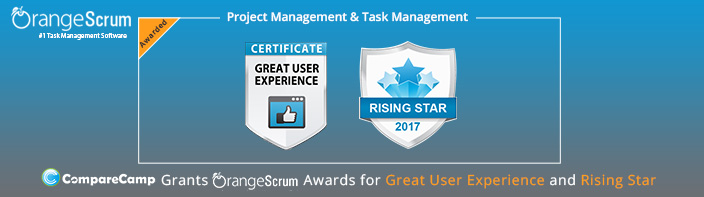 CompareCamp Grants Orangescrum Awards for Great User Experience and Rising Star