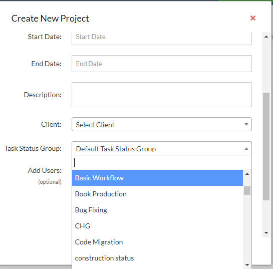 Add workflow to a project