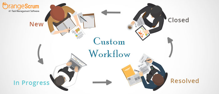 How to create custom workflow in Orangescrum