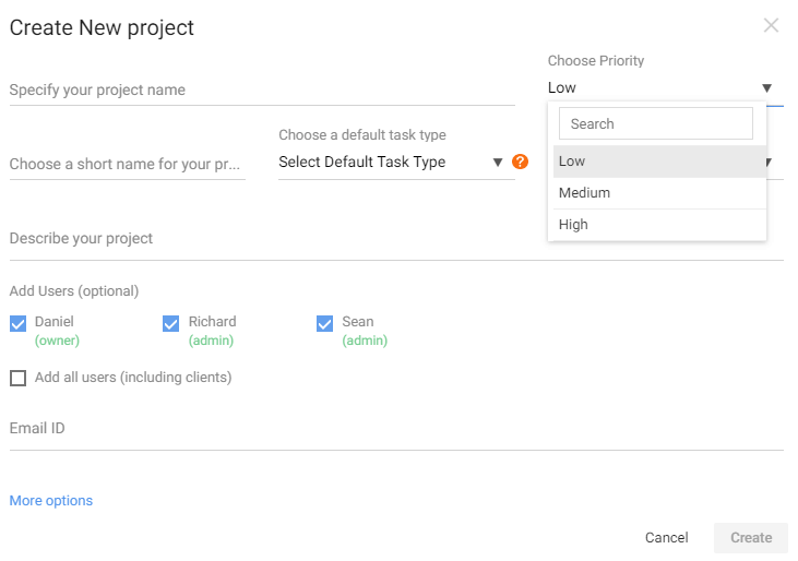 Project Priority