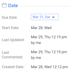 Start Date in Task Detail page of OrangeScrum