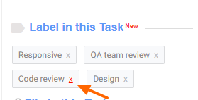 Remove Task Labels