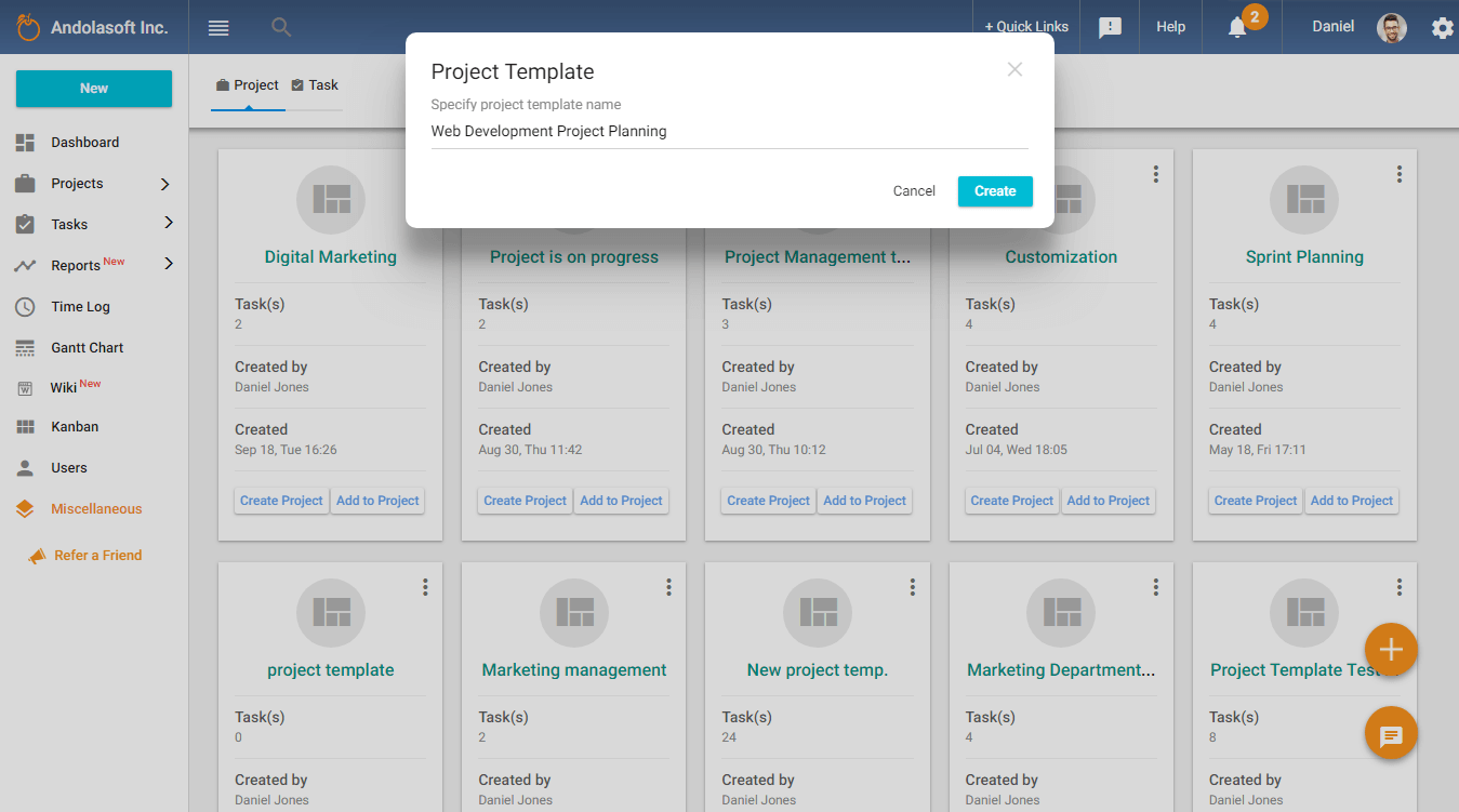 Create Project Template