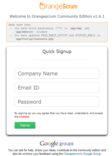 Quick-Signup